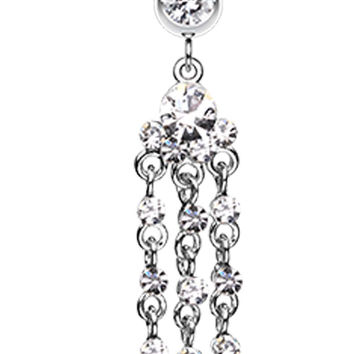Shimmering Chandelier Belly Button Ring