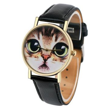 Lovely Cat Wrist Watch Lovers Gift
