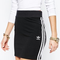 adidas Originals Adicolour Mini Bodycon Skirt With 3 Stripe Logo