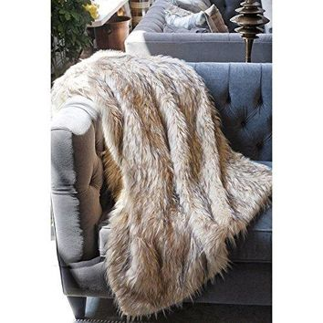 Ben and Jonah Lynx Faux Fur Throw Blanket