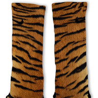 Tiger Pattern Custom Nike Elite Socks Fast Shipping!! Customized Elites