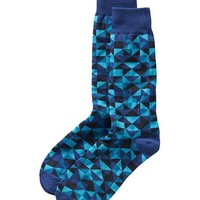 Old Navy Mens Geo Patterned Socks Size One Size - Cool multi