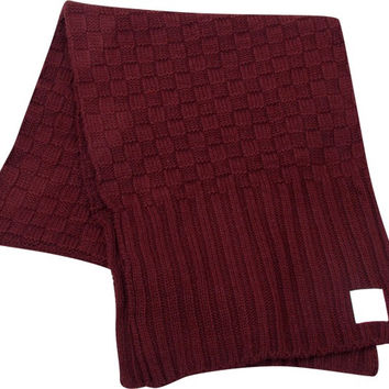 Diamond OG Checkered Scarf Burgundy