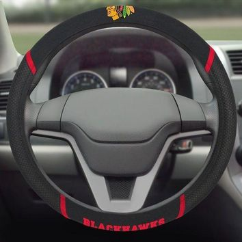Chicago Blackhawks Embroidered Steering Wheel Cover