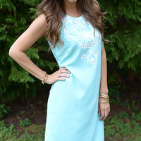 Simply Elegant Dress, Light Blue