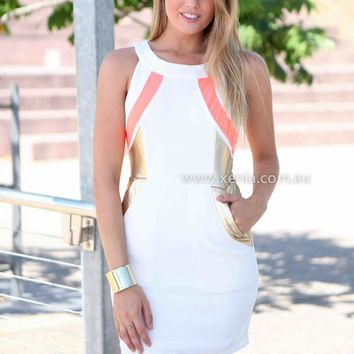 RISE OF AN EMPIRE DRESS , DRESSES, TOPS, BOTTOMS, JACKETS & JUMPERS, ACCESSORIES, 50% OFF SALE, PRE ORDER, NEW ARRIVALS, PLAYSUIT, COLOUR, GIFT VOUCHER,,White,SLEEVELESS,MINI Australia, Queensland, Brisbane
