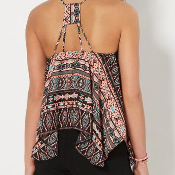 Aztec Strappy Sharkbite Tank Top | Casual Tank Tops | rue21