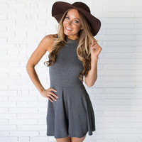 Good Luck Charm Jersey Romper In Charcoal Grey