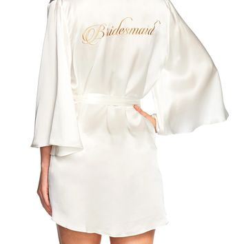 Naked Princess Silk Bridesmaid Robe