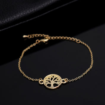 New Fashion  Link Chain Tree of Life Bracelets for Women Simple Tree Women Bracelet bracelet  Party Gift