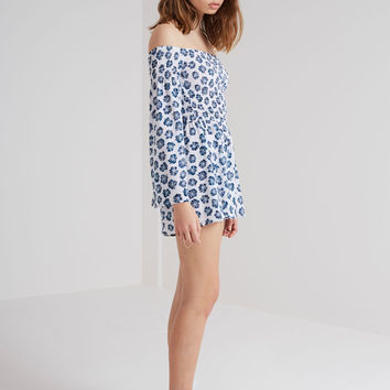 Buy Romancing Playsuit - Begonia Print | The Fifth | The Birdcage Boutique