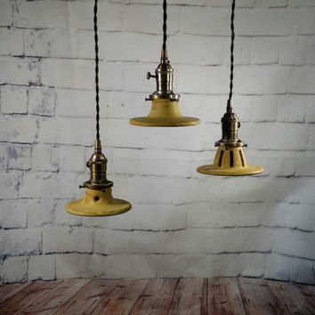 Handcrafted Mini Pottery Hanging Pendant Lights