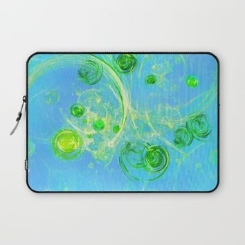 Summer Tree of Life - #Abstract #Art by Menega Sabidussi #society6 Laptop Sleeve by Menega Sabidussi