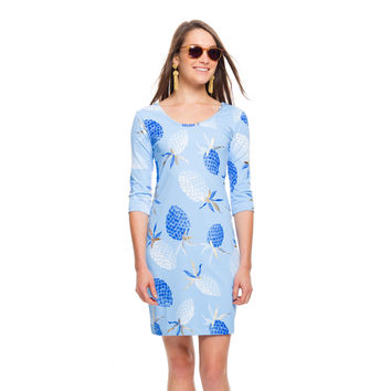 Athens Blue Pineapples Kilpatrick Dress