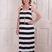 Striped For Fun Maxi - Black/White