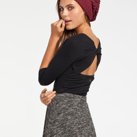 Billabong Stretch It Out Womens Crop Top Black  In Sizes