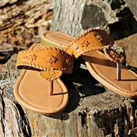 Starburst Sandals in Tan