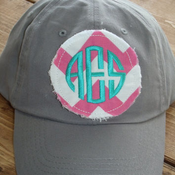 preppy monogrammed baseball cap hat bridesmaid sorority hats etsy seersucker monogram baby