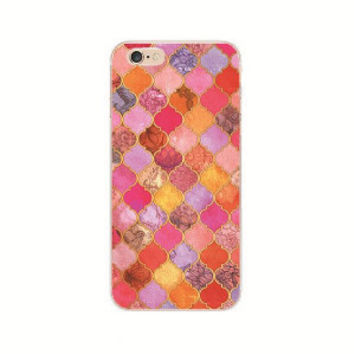 Pretty Pink Arabesque iPhone  5 5S, 5C, 6 6S, 6s Plus Cover