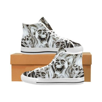 No Evil Skulls Vancouver High Top Canvas Men's Shoes