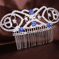 Boutique Luxury Full Crystal Flower The Twilight Saga Bella's Hair Comb Top Grade 11.8*7Cm Women Hair Jewelry Christmas Gifts