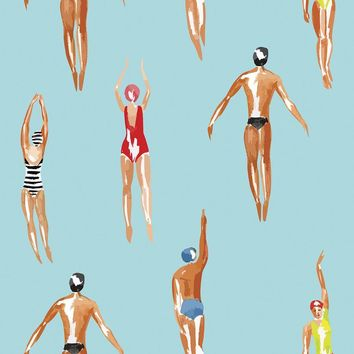 Swimmers Removable Wallpaper