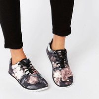 Blink Floral Print Runner Trainers at asos.com