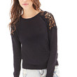 FOREVER 21 Crochet Cable Knit Sweater
