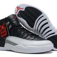Beauty Ticks Air Jordan 12 Retro Xii Aj12 White/black Basketball Shoes Size Us8-12
