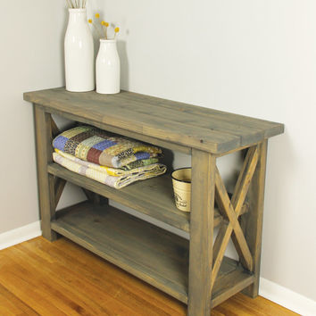 Rustic X Table, Sofa Table, Console