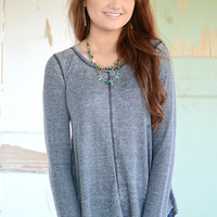 Lilibeth Thermal Top - Charcoal