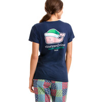 Short-Sleeve Santa Whale 2016 Pocket Tee