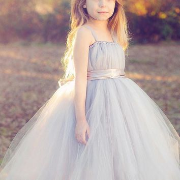 New Tulle bridesmaid flower girl wedding dress