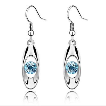 Water Drop Earrings Crystal Drop Dangle Earring
