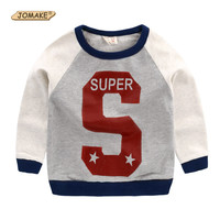 Hot Sale 2017 Kids Sweatshirt Baby Clothing Super Star Letter Print Cotton T-shirt Boys Clothes Long Sleeve Toddler Boys T shirt