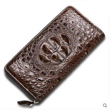 cestbeau Crocodile men wallet man clutch bag man  long zipper Thailand crocodile men purse