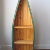 Vintage Boat Shaped Shelf Canoe Wall Shelf Cabin