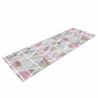 "Michelle Drew ""Triangle Mountains"" Pink Lavendar Yoga Mat"