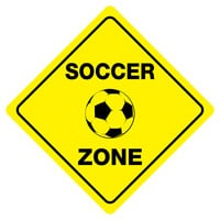 "SOCCER ZONE Funny Novelty Xing Sign 12""x12"""