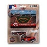 MLB Cincinnati Reds Ford Mustang and Dodge Charger 1:64 Scale Diecast Cars