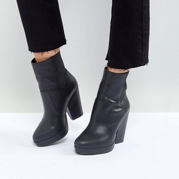 ASOS EARTHLING Wide Fit High Ankle Boots at asos.com
