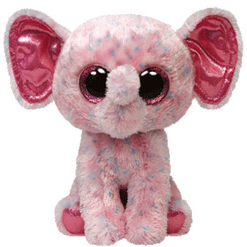 TY Beanie Boos - ELLIE the Pink Elephant (Glitter Eyes) (Regular Size - 6 inch)
