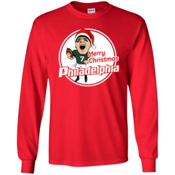 Garcia Merry Christmas Philadelphia Inspired Youth LS T-Shirt