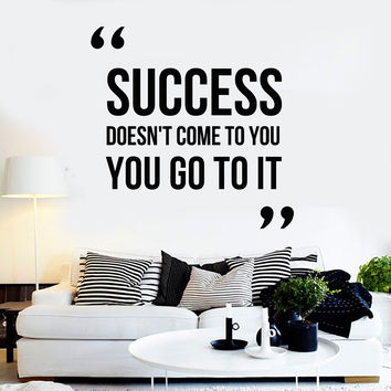 Vinyl Wall Decal Motivation Quote Success Office Inspire Stickers Unique Gift (ig4408)