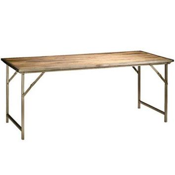 Pre-owned Rustic Campaign Dining Table