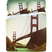 DENY Designs Home Accessories | Shannon Clark Retro Golden Gate Sheet Set