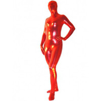 Catsuits & Zentai Shiny Metallic Red Unicolor Unisex Zentai Suit - Unicolor Zentai [TSS11029] - $30.99