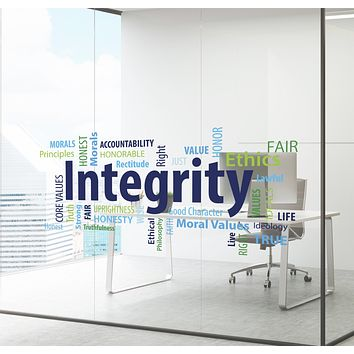 Wall Decal Office Integrity Moral Values Honest Interior Decor zc024