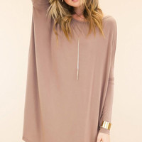 "PIKO ""Everything"" Long Sleeve Tunic - Sand"