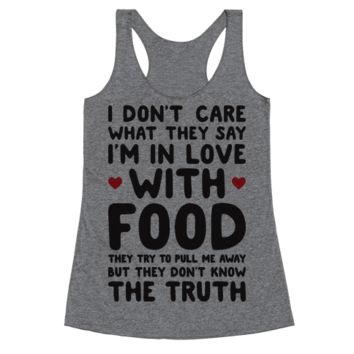 BLEEDING LOVE FOR FOOD RACERBACK TANK